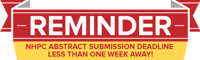 Abstracts due in less than one week