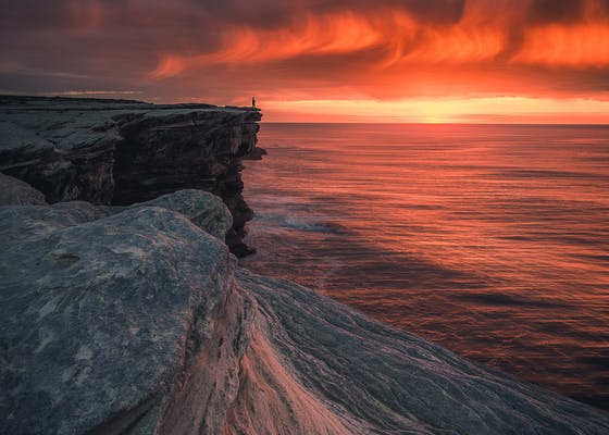 Photo of cliff coast, Dark Sky, dawn