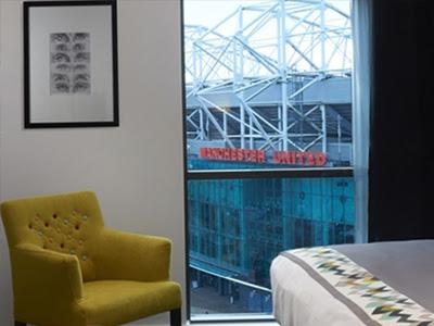 Hotel Football Zimmer Ausblick