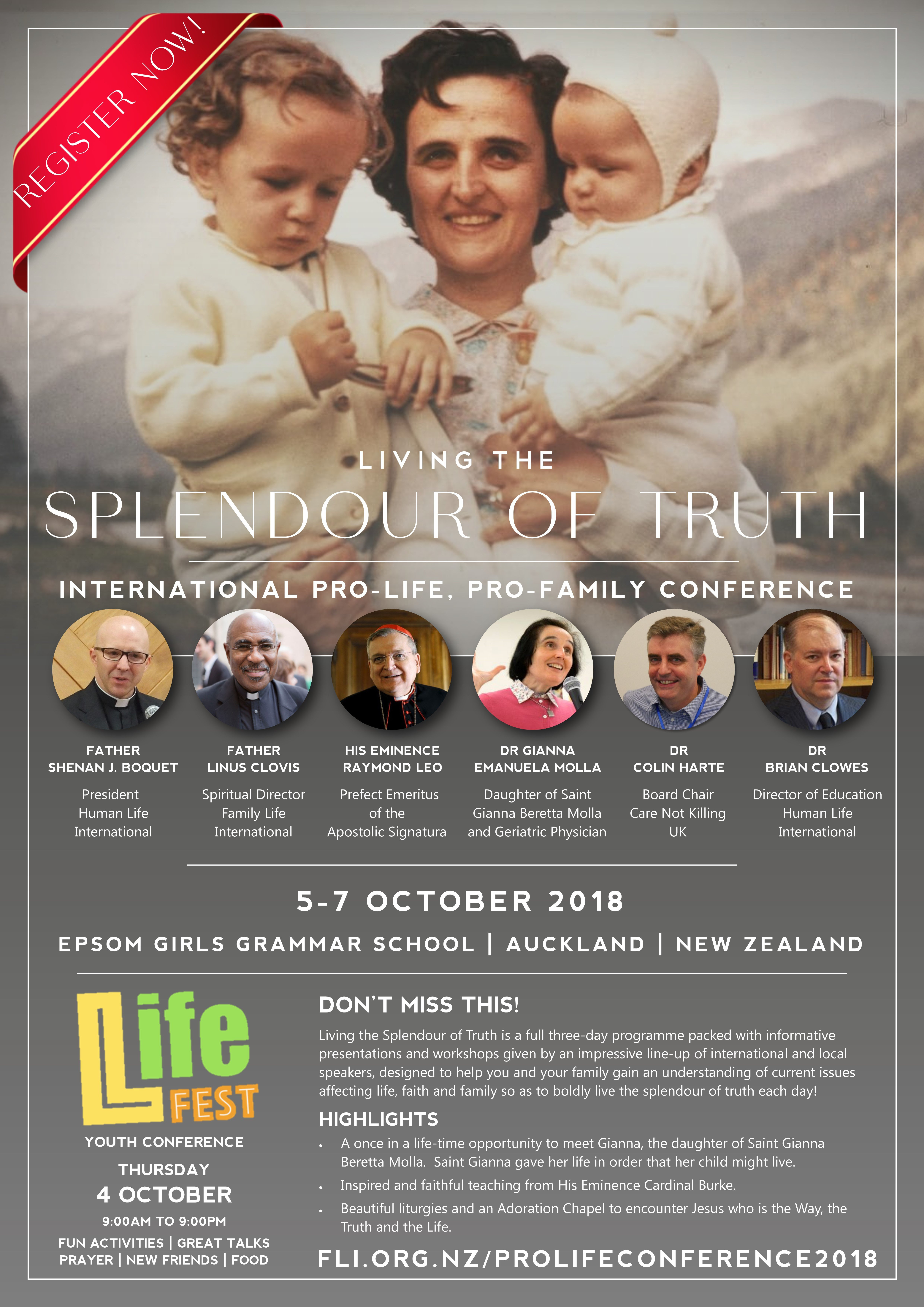 Living the Splendour of Truth Conference