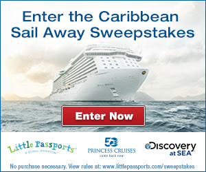 ENTER THE CARIBBEAN SAIL AWAY.