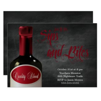A Sip And A Bite Halloween Party Invitation