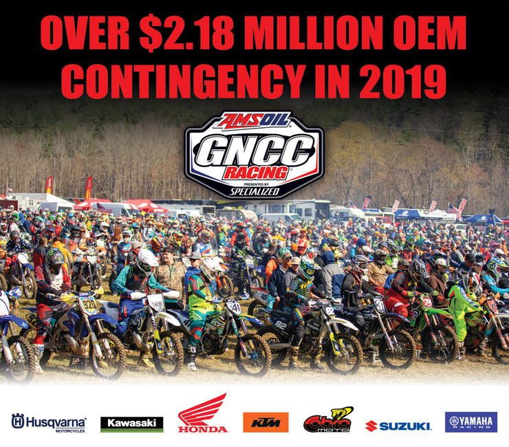 Click HERE to view a full lineup of 2019 GNCC Series Contingency.