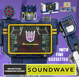 MASTERPIECE SOUNDWAVE WITH 5 CASSETTES