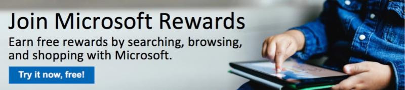 Microsoft Rewards Header