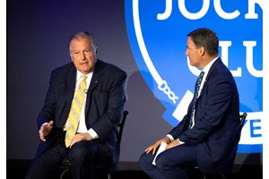 John Messara (left) and The Jockey Club president and COO James Gagliano during the Round Table Conference