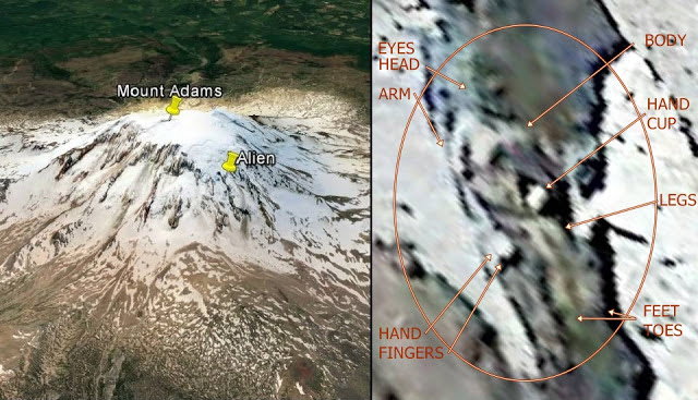 Giant Frozen Alien Discovered Near The Top Of Mount Adams (Video)