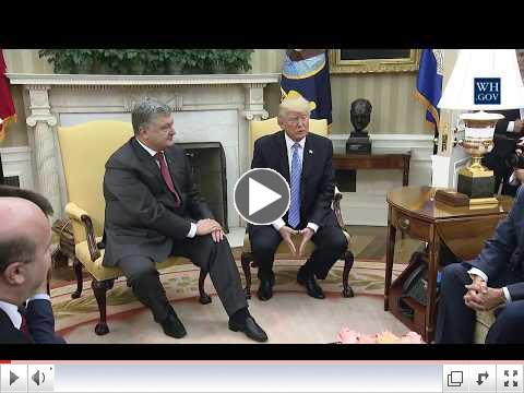 Ukraine's President meets with US President. Video - White House. To view the video please click on the image above