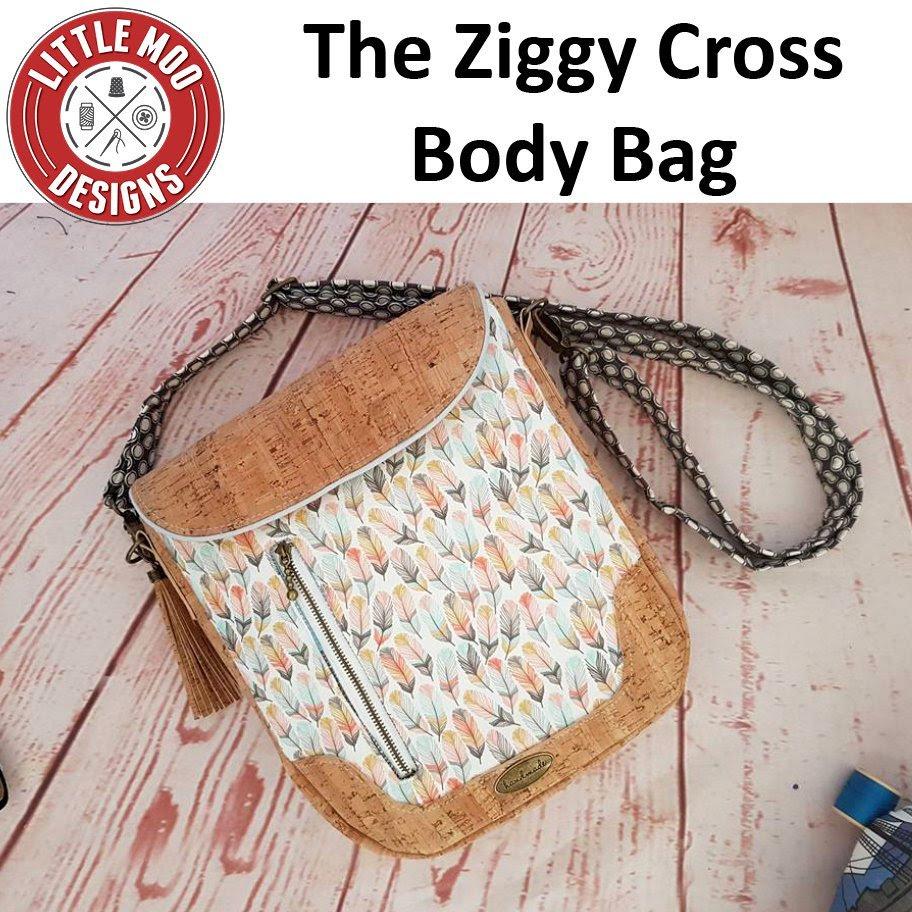 little moo designs the ziggy cross body bag sewing pattern