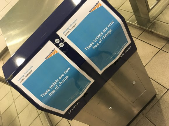 No need to spend a penny as toilet charges scrapped at London Paddington