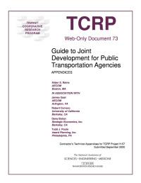 Guide to Joint Development for Public Transportation Agencies: Appendices