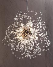 Comet chandelier at Horchow