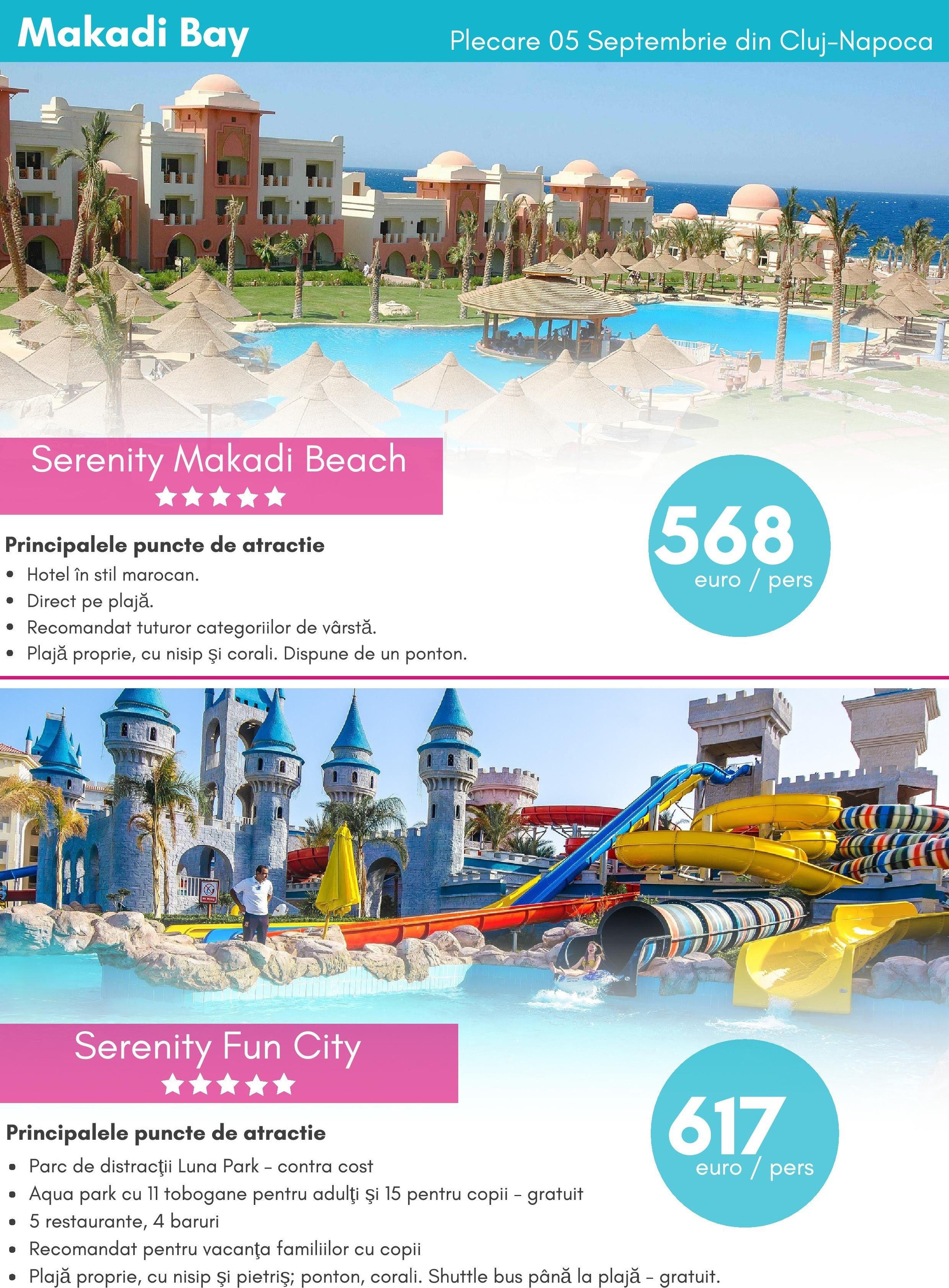 SERENITY Hotels 5* | Egipt-Makadi Bay | Oferte valabile pana in 30 Aprilie