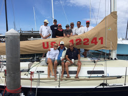 J/122 WINGS winning crew at Block Island