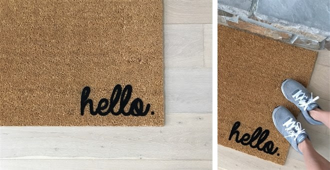 HOT!! Hello Door Mat...