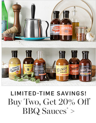 LIMITED-TIME SAVINGS! Buy Two, Get 20% Off BBQ Sauces*