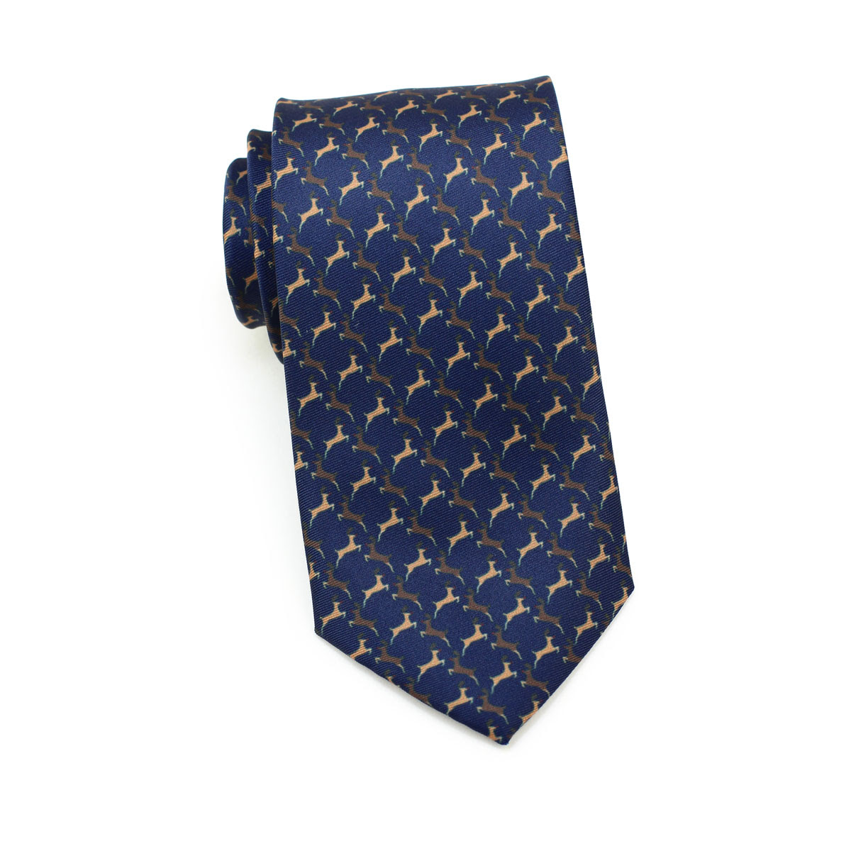 reindeer tie in navy blue