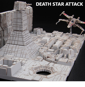 Star Wars 1/144 Death Star Attack Model Kit (A New Hope)