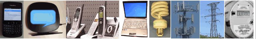 Enkele bronnen van EMS, elektro-magnetische straling