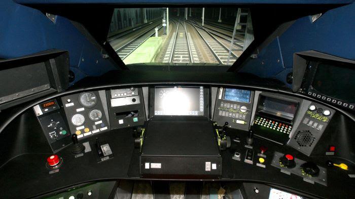 Simulateur de conduite d'un TGV