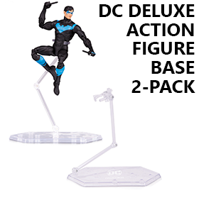 DC DELUXE ACTION FIGURE BASE TWO-PACK