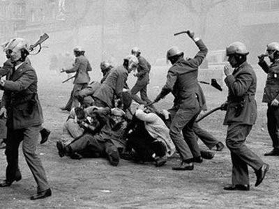 Represión policial durante la dictadura argentina.