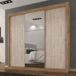 Guarda Roupa Casal com Espelho 3 Portas 3 Gavetas Flex Color Smart Maxel Ipê Tex/Vanilla Tex