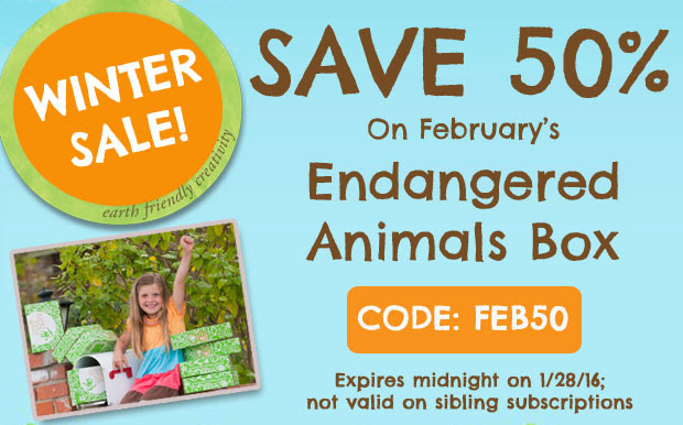 50% OFF GREEN KID`S ENDANGERED...