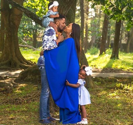 Adorable photos of media personality, Ebuka Obi-Uchendu with his wife and children
