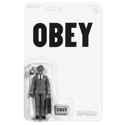 Image of They Live Male Ghoul Black and White 3 3/4-Inch ReAction Figure - APRIL 2020