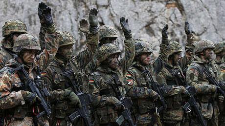 Soldados de Ejército alemán en Bad Reichenhall, el sur de Alemania, 23 de marzo de 2016.