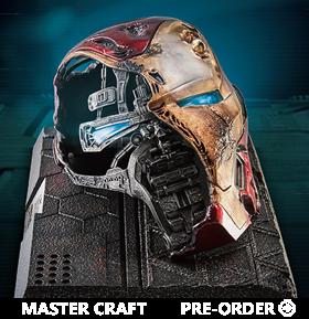 Avengers: Endgame Master Craft MC-038 Iron Man Mark-50 Battle Damaged Helmet Limited Edition Statue