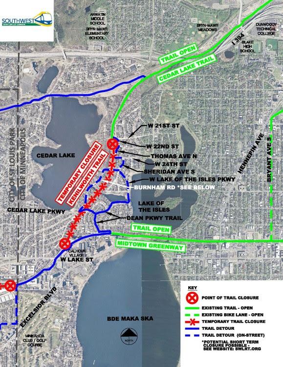 Kenilworth Detour Map