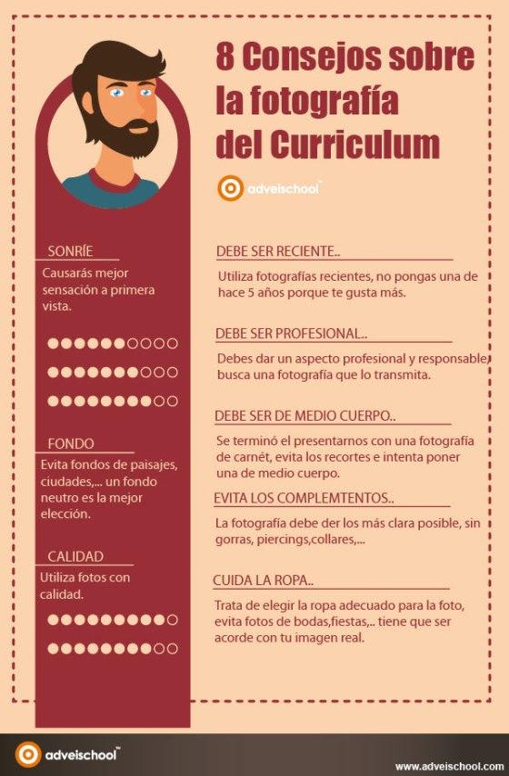 8 consejos sobre la fotografía del Curriculum