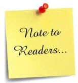 Note to readers