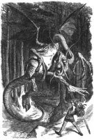 The Jabberwocky, from Lewis Carroll's Through the Looking-Glass and What Alice Found There, 1872.
