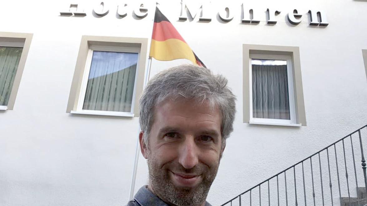 """""""Wo bin ich?"""", fragt Tübingens Oberbürgermeister Boris Palmer provokant. Die richtige Antwort lautet: in Hechingen."""