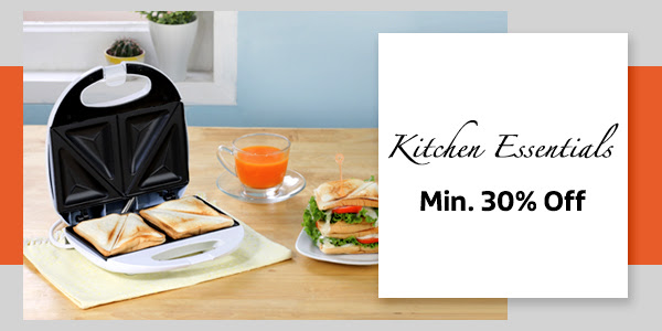 Kitchen Essentials at Min. 30% Off