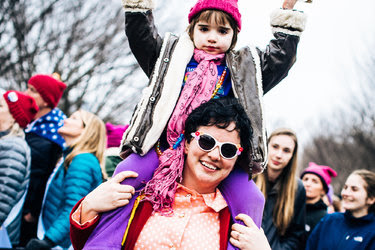 Melody Choate and her daughter Victoria at the Women's March in Washington.