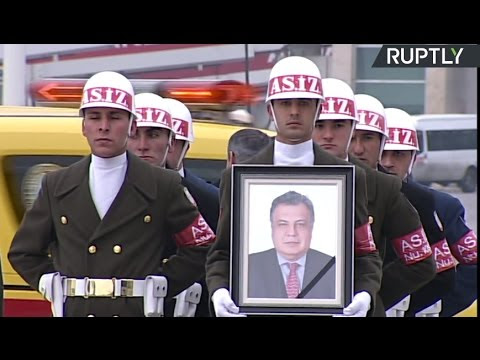 Live Stream! Mourning Ceremony As Russian Ambassador's Body Taken To Moscow