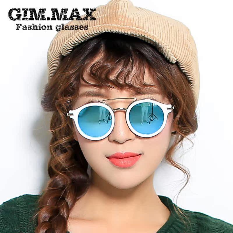 Круглые очки в белой оправе
