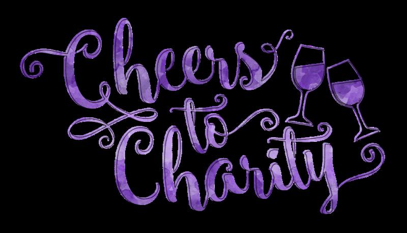 Cellar XV's Cheers to Charity purple logo