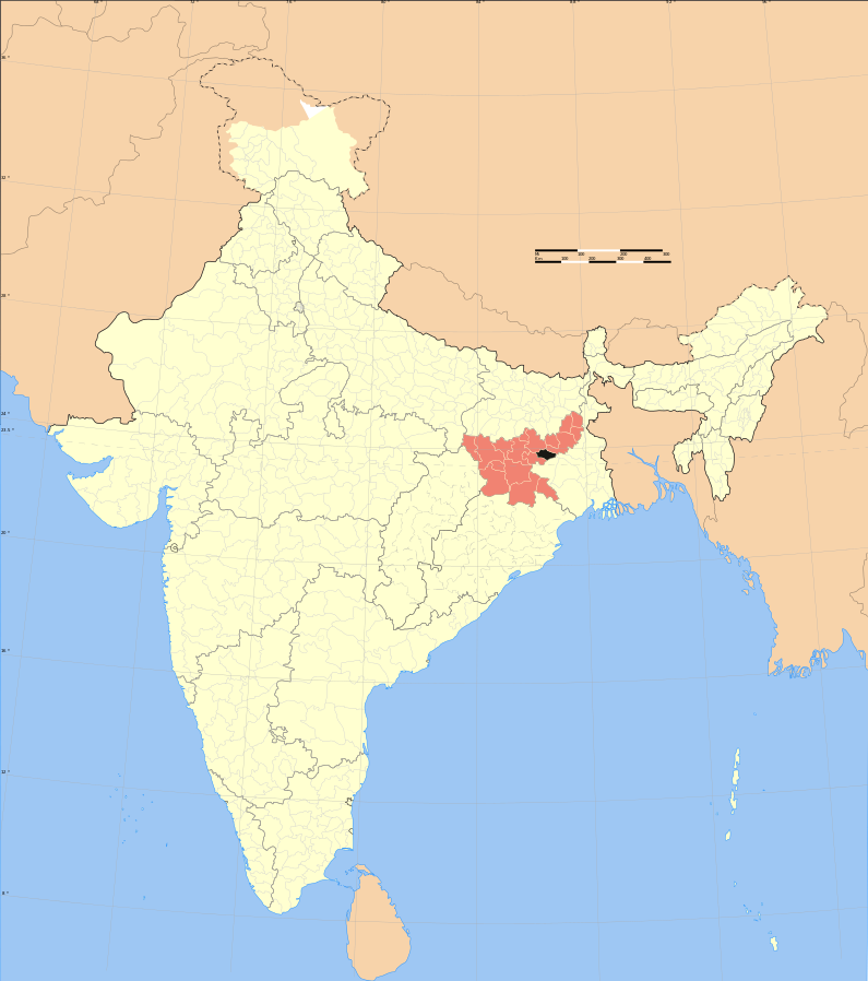 Jharkhand, India. (Haros based on map created by w user Nichalp & w user planemad)