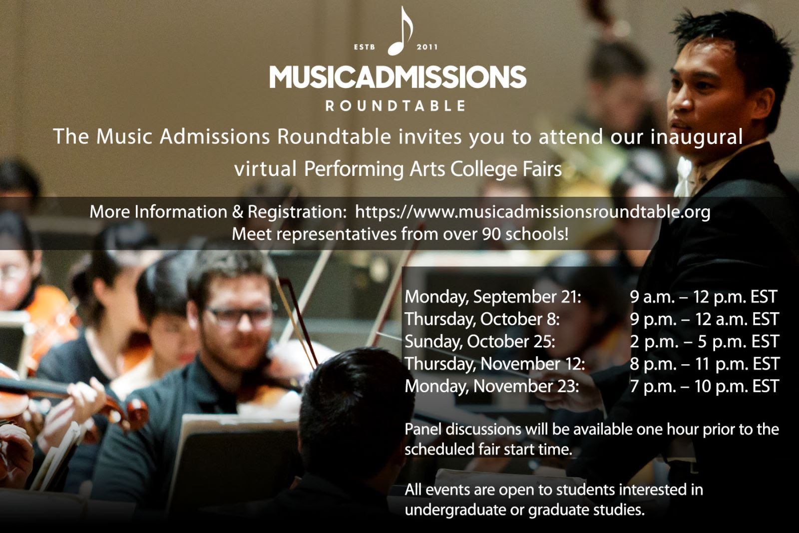 Performaing Arts College Fair Flyer