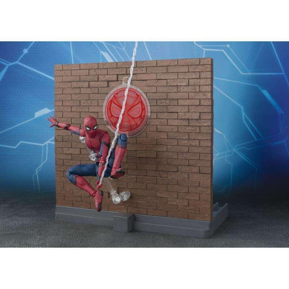 Image of Spider-Man: Homecoming S.H.Figuarts Spider-Man & Tamashii Option Act Wall Set