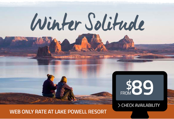 WEB ONLY RATE AT LAKE POWELL RESORT - from $89