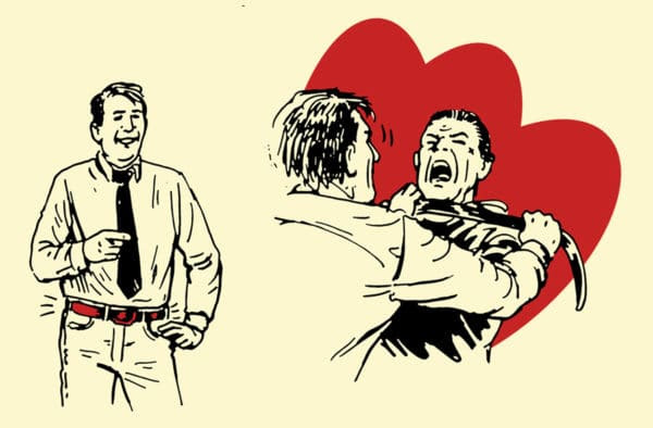 belt improvised weapon self-defense illustration