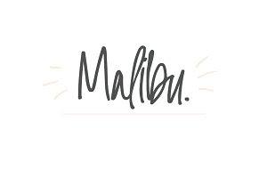 Malibu   Handwritten Font + Extras
