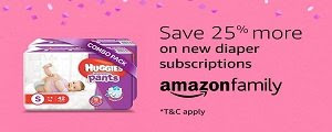 Save 25% more on new diaper subscriptions
