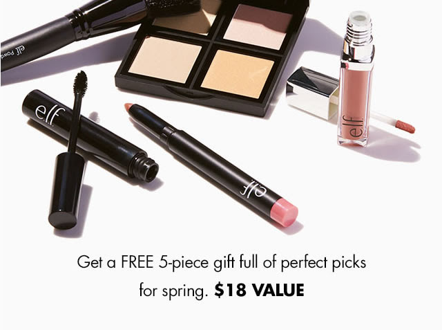 Get a FREE 5-piece gft full of perfect picks for spring. $18 value